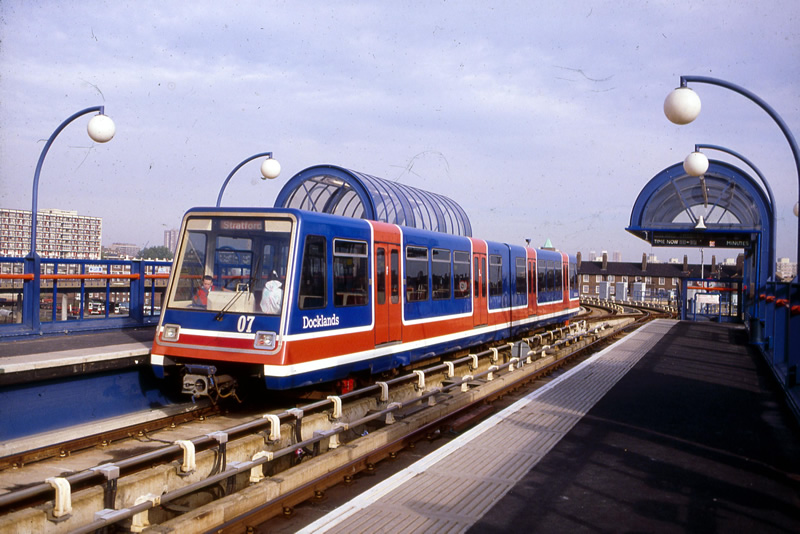 The launch of the Docklands Light Railway