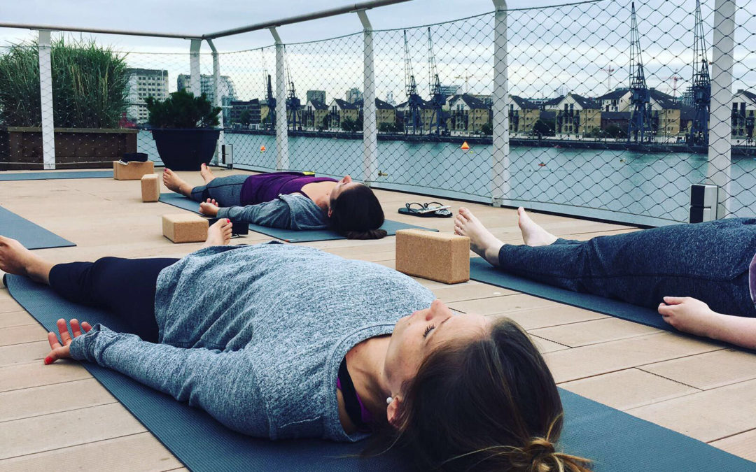 Yoga sessions on floating Good Hotel
