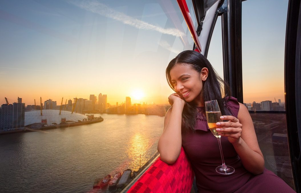 Champagne flights on the Emirates Air Line
