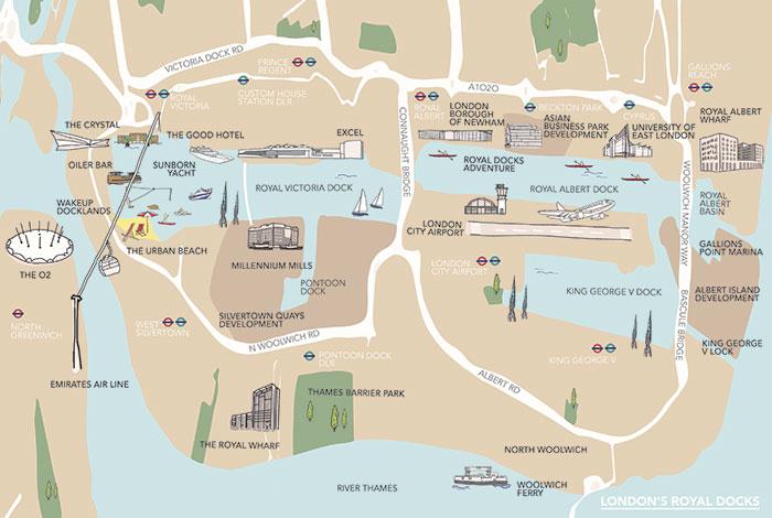 Sections Of London Map.Exploring London S Royal Docks