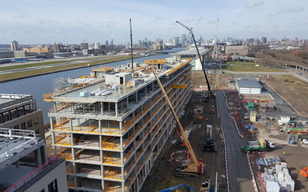 Topping-out ceremony for Royal Albert Dock development