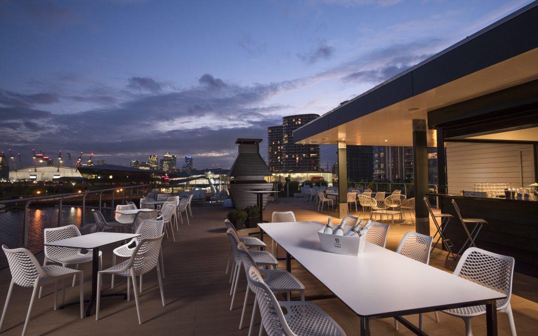 Good Hotel Reopens Rooftop Terrace Bar London S Royal Docks